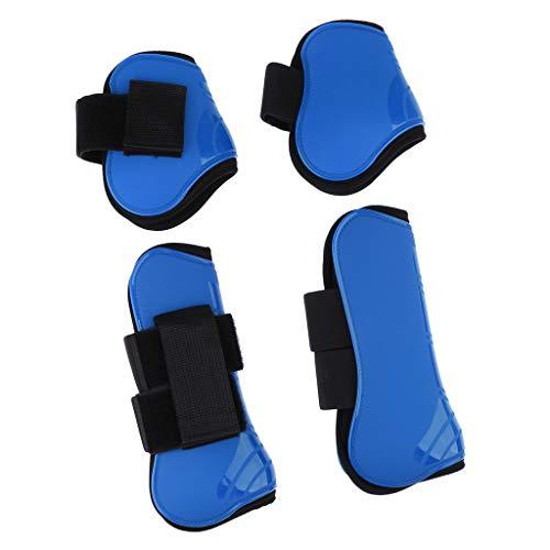 B Baosity 2 Paires de Équipement Protection Jambe de Cheval Bottes Couvre-boulets Jambière - Bleu Royal, 25,6 x 11,8 cm