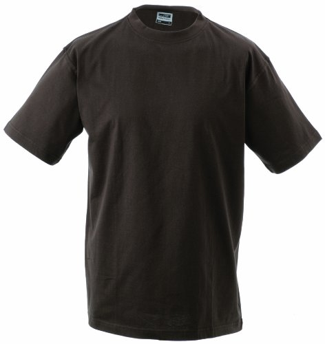 James & Nicholson Herren Komfort T-Shirt Rundhals Braun (Brown)