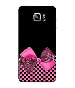 Fuson Designer Back Case Cover for Samsung Galaxy S6 Edge+ :: Samsung Galaxy S6 Edge Plus :: Samsung Galaxy S6 Edge+ G928G :: Samsung Galaxy S6 Edge+ G928F G928T G928A G928I (Black Colored Checks Knotted Girls Ladies Lady Fashion)