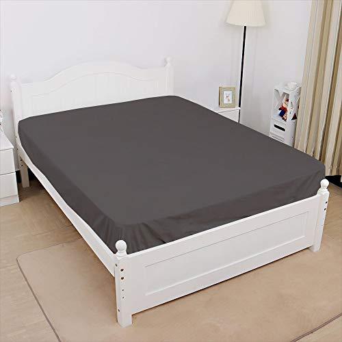 Cottingos Spannbettlaken, Baumwolle, Fadenzahl 400, Taschentiefe bis 30,5 cm, Farbe Traditionell Queen Dark Grey Solid
