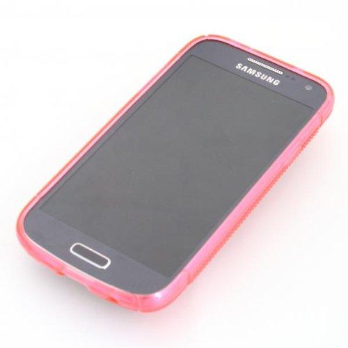 ECENCE Samsung Galaxy S4 mini I9190 I9195 I9192 Duos Coque de protection housse case cover rétro rouge à pois blanc 12040404 Rose