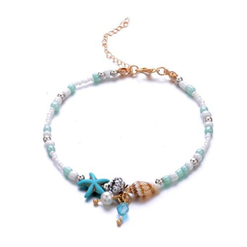 Vovotrade Exquisite Bracelet Seashells Beach Foot Chain Beads Star Ankle Chain Jewelry Accessories