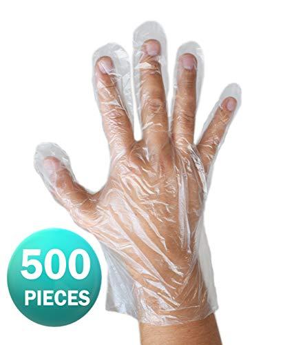 Einweg-Handschuhe klar - Polyethylen HDPE, transparent - von ASPRO (500 Handschuhe) -