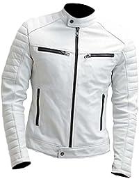 Classyak Veste Mode Slimfit Cuir véritable Moto Haute qualité pour Homme 21872a35ddf2