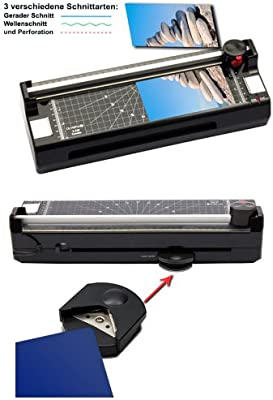 3en 1Dispositivo de laminación con rollo Cortador y redondeador Incluye 100plastificar DIN A4