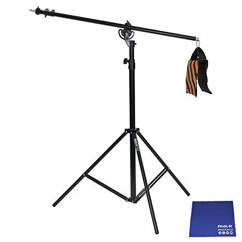 y Schirm-Softbox Flash Photo Studio 2-in-1 Combi Kombilicht Boom mit Sandbag Ständer und Tragetasche schwarz + Chamois Tuch (Combi Flash)
