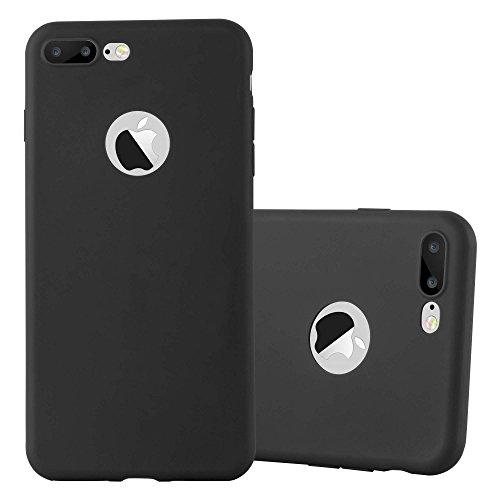 Preisvergleich Produktbild Cadorabo Hülle für Apple iPhone 8 Plus / 7 Plus / 7S Plus - Hülle in Candy SCHWARZ – Handyhülle aus TPU Silikon im Candy Design - Silikonhülle Schutzhülle Ultra Slim Soft Back Cover Case Bumper