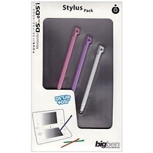 Stylus Bigben Regenbogen, 3 Stück für NDSi, NDSLite, NDSi XL (farblich sortiert – Farbe nicht auswählbar)