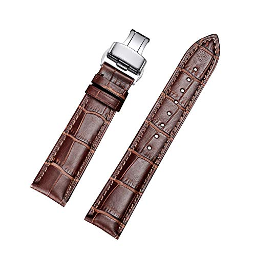 Axcellent Uhr Band18mm 20mm 22mm Kalbsleder Aligator Muster Armband Ersatz Band Uhrenarmband mit Edelstahl Faltschließe