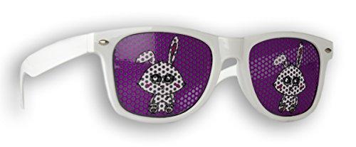 Promo Trade Sonnenbrille Gelb einsame Insel im Wayfarer Stil Retro Unisex Brille UV400 (Hase)