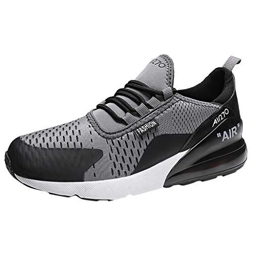 CUTUDE Herren Laufschuhe Sportschuhe Sneaker Fitnessschuhe Laufschuhe Licht Gym Turnschuhe Trekking Wanderhalbschuhe (Grau, 39 EU)