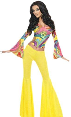 ppie, Flower Power Kostüm, Karneval, Fasching, M, Mehrfarbig (Disco Groovy Girl Kostüm)