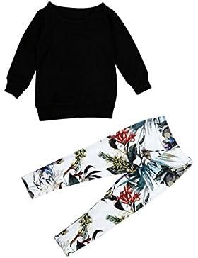 Covermason Niña Manga larga camiseta Tops y Impresión Pantalones (1 Conjunto)