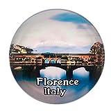 Weekino Souvenir Puente Viejo Florencia Firenze Italia Imán de Nevera Cristal 3D Cristal Ciudad Turística Recuerdo de Viaje Colección Regalo Fuerte Etiqueta Engomada del refrigerador