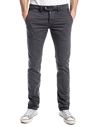 Timezone Herren Slim Hose JannoTZ chino pants Grau (grey shadow 9212)