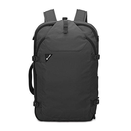 Pacsafe Venturesafe EXP45 Anti-Diebstahl Rucksack, Reiserucksack, Trekking Rucksack, Wanderrucksack mit Sicherheitstechnologie, 45 Liter, Schwarz/Black