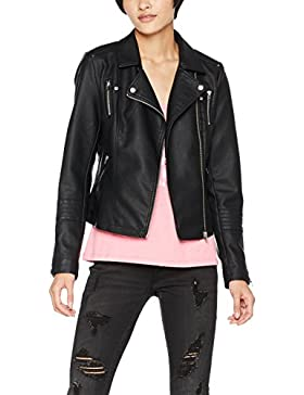 Only Onlgemma Faux Leather Biker Otw Noos, Chaqueta para Mujer