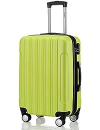 BEIBYE LG2050 doble ruedas carcasa rígida maleta estuche de viaje, verde, Medium