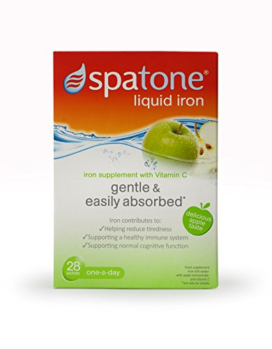 Spatone Apple Liquid Iron Supplement with added Vitamin C – Pack of 28 Sachets