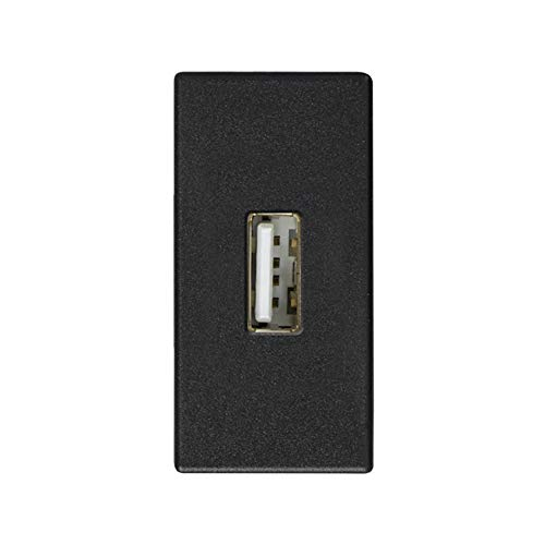 SIMON 2701090-038-Anschluss mit Deckel für USB A weiblich Modul engen