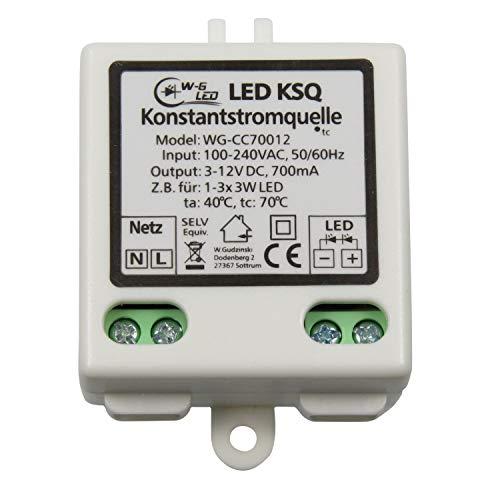 LED Konstantstromquelle|Treiber|Constant Current|700mA|3-12V|KSQ|z.B. 1-3x 3W (Treiber-treiber -)