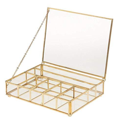 Backbayia 30 x 20 x 10 cm, 7 Gitter, Box Terrarium, Jewel-Boxed zur Aufbewahrung von Kosmetik - Boxed Garten