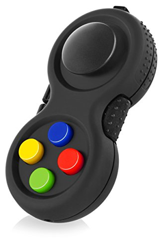 The Original Fidget Retro: The Rubberized Classic Controller Game Pad Fidget Focus Toy with 8-Fidget Functions and Lanyard - Perfect for Relieving Stress/Anxiety and Increasing Attention