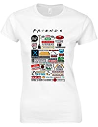 Friends TV Quotes Short Sleeve Ladies T Shirt Unofficial Spoof White T Shirt