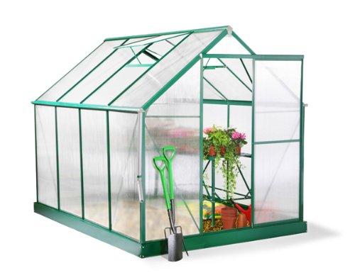 Serre Lacewing Professionnelle Verte 5,18m² en Aluminium avec embase