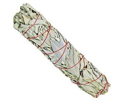 Räucherwerk:1x Großer weißer Salbei-Stab - ca. 75-85 Gramm von Native-Spirit.eu - Smudge Stick XXL, white sage (1) -
