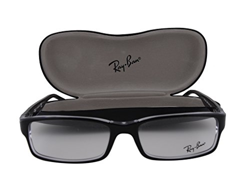 Ray-Ban unisex-adult RX5114 Brillen 52-16-135 Top Black On Transparent 2034 RB5114 Top Schwarz auf Transparent groß