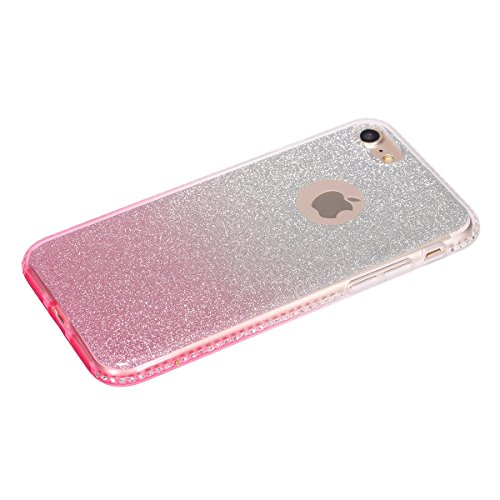 iPhone 6S Hülle,iPhone 6 Hülle,iPhone 6 / 6S TPU Silikon Hülle,ikasus® Handy-Hülle Weich TPU Silikon Handy Hülle Case Tasche Schutz für Apple iPhone 6 / 6S (4,7 Zoll) Silikon Hülle Color Gradient Luxu Rosa