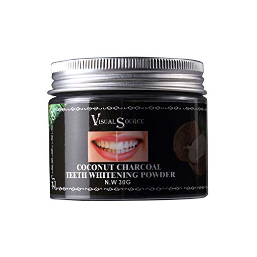 NAYUKY Aktivierte natürliche Bio Kokoskohle Teeth Whitening Pulver Paste Tartar Fleckenentferner -