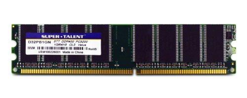 Super Talent D32PB1GN DDR400 1 GB / 64 x 8 ohne Kühlkörper -