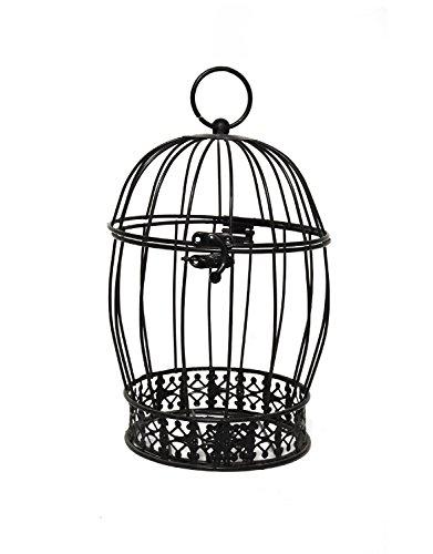 Jaula Decoración Negra (Precio Unitario) - Jaula Decorativa Decoración para Hogar, Casas, Bodas y Ceremonias