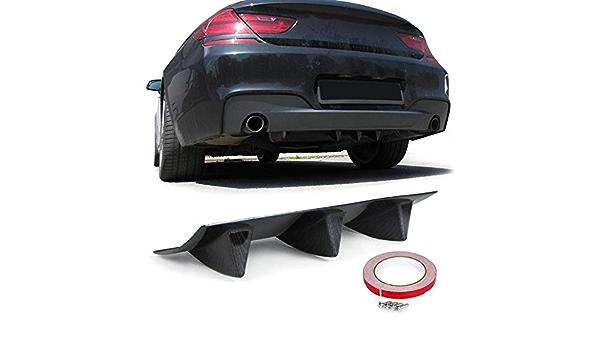 Tenzo R 33812 Universal Heck Diffusor Für Stoßstange Hinten Mit 3 Finnen Carbon Optik Auto