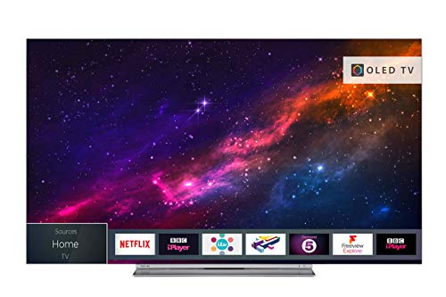 Toshiba 65X9863DB 65-Inch Smart 4K Ultra-HD HDR OLED TV with Freeview Play - Silver (2018 Model) (Refurbished)
