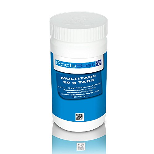 1 Kg - PoolsBest Mini - Multitabs 5 in 1, 20 g Tabletten