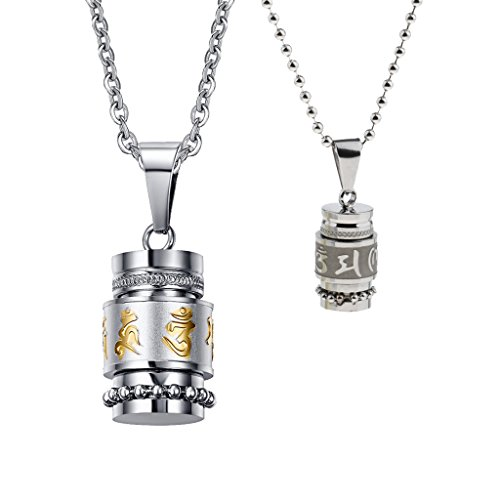 Homyl 2 Stücke Edelstahl Halskette mit Ash Anhänger Memorial Urn Halskette -