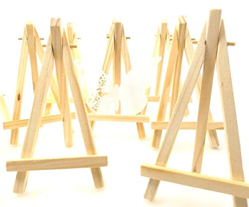 ne Holz Tafel Display Staffelei Foto Memo Halter Platzkartenhalter Name Tabelle Karte Stand für Hochzeit Geburtstag Taufe Babyparty Party & Bar (10 x, 15 x 8 cm) ()