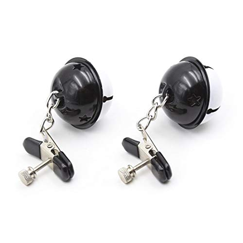 HNZZ TMRTCGY Teasing Adult Erotic Sexspielzeuge mit Schwarzweiß-Bell-Nippel-Clips Trainingsnippelklemme