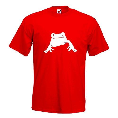 KIWISTAR - Frosch Frog Teich T-Shirt in 15 verschiedenen Farben - Herren Funshirt bedruckt Design Sprüche Spruch Motive Oberteil Baumwolle Print Größe S M L XL XXL Rot