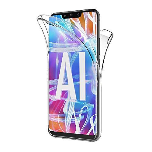 AICEK Compatible Huawei Mate 20 Lite Hülle, 360°Full Body Transparent Silikon Schutzhülle für Huawei Mate 20 Lite Case Durchsichtige TPU Bumper Huawei Mate 20 Lite Handyhülle (6,3 Zoll)