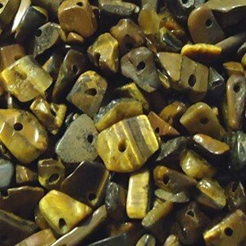 20g Tiger Eye 4-7mm Gemstone Chip Bead - approx. 70 beads - A4801 by k2-accessories Chip Beads - 4 Mm Tiger
