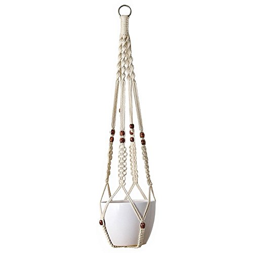 Baumwollpflanzen Aufhänger Blumenampel aus Makramee für den Innen und Außenbereich Decken und Balkone Lang 100cm