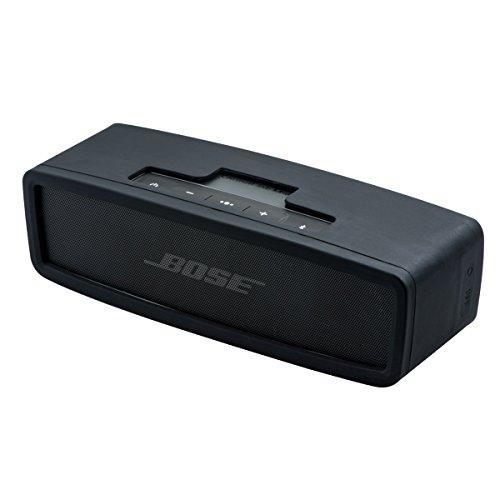 QUMOX Schwarze Haut Stoßabdeckungs -Silikon-Trage für Bose Soundlink -Mini-Lautsprecher