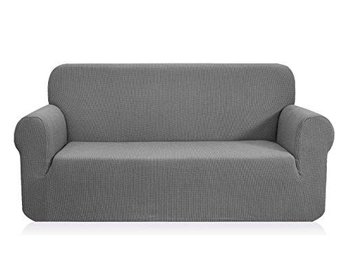 CHUN YI 1-Pezzo Elasticizzato Jacquard Copridivano Coprisofà Sofa Cover Jacquard per Casa Decorativa (Divano, Grigio Chiaro)