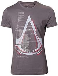 T-shirt Assassin's Creed logo Legendary Crest coton gris