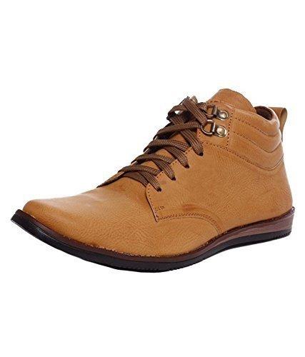 Rosso Italiano Men's Tan Synthetic Boots (rib499tn105-9) - 9