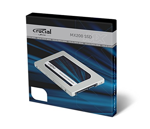 Crucial MX200 1TB Internes Solid-State-Drive (SATA, 7 mm, 6,4 cm (2,5 Zoll), inkl. 9,5 mm Adapter)